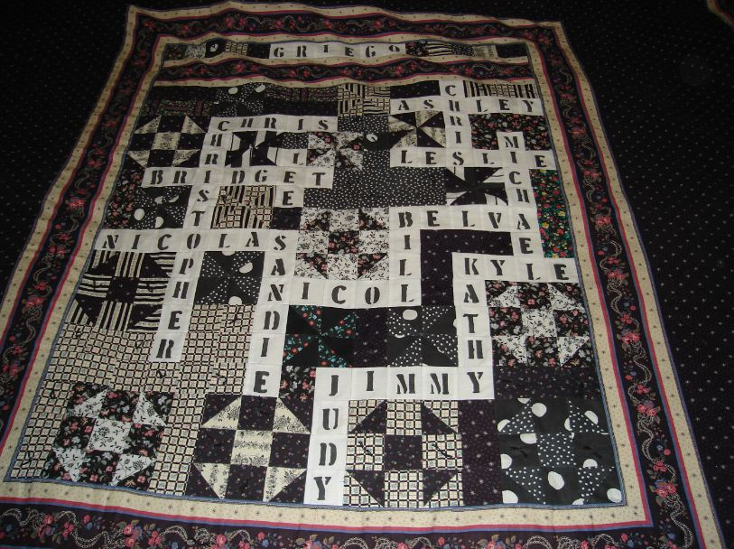 Crossword Puzzle Quilt
