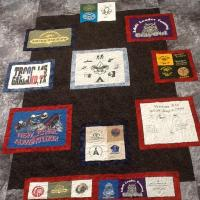 Mike's scout t-shirt quilt