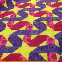 Two Block Ribbon Quilt in Pink and Purple